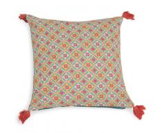 Fodera di cuscino con pompon in cotone 40 x 40 cm TOPANGA