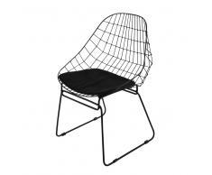 Sedia nera in metallo Orsay