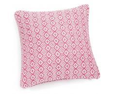 Federa di cuscino rossa/bianca in cotone 40 x 40 cm ÉGLANTINE