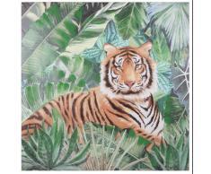 Tela con stampa tigre, 80x80 cm