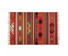 Tappeto etnico multicolore in lana 140x200cm KILIMA