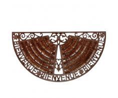 Zerbino marrone in ferro battuto 37 x 70 cm WELCOME
