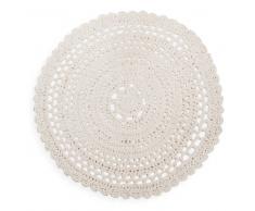 Tappeto di cotone écru D. 90 cm CROCHET