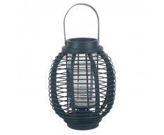 Lanterna in bambù blu navy