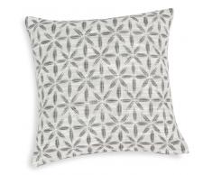 Fodera di cuscino bianca/grigia in cotone 40x40 cm CAMPO