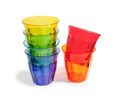 6 bicchieri multicolore in plastica COLORAMA