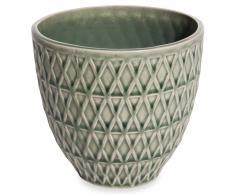 Portavaso verde in ceramica URBAN GARDEN
