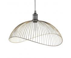 Lampada a sospensione nera con fili in metallo D 48 cm PHAONA