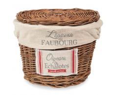 Cestino porta cipolle in vimini FAUBOURG