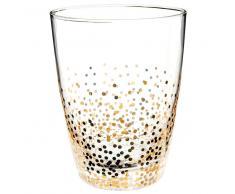 Bicchiere da acqua effetto crepato dorato