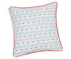 Federa per cuscino in cotone azzurro/arancione 40 x 40 cm MARINA