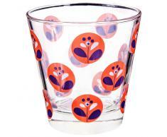 Bicchiere di vetro rosso CAPRI