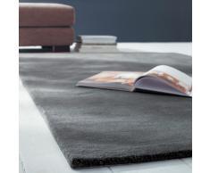 Tappeto color antracite in lana a pelo corto 160 x 230 cm SOFT