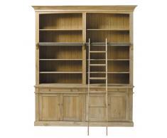 Libreria in massello di quercia Atelier