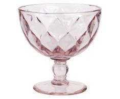 Coppa per gelato in vetro colorato rosa