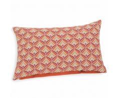 Fodera di cuscino color terracotta in cotone 30 x 50 cm LOIS