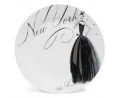 Piatto piano bianco in porcellana D 27 cm NYC MODEUSE