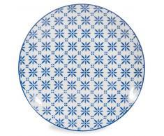 Piatto piano blu in porcellana D 27 cm MYKONOS
