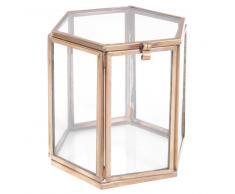 Scatola vetrina in vetro TAMSIR BRASS