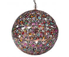 Lampada a sospensione multicolore in metallo e vetro D 50 cm MILLE ET UNE NUITS