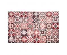 Tappeto in vinile con motivi a mattonelle 100x150 cm