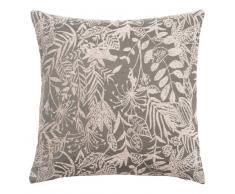 Fodera di cuscino intessuta jacquard motivo fogliame, 40x40 cm
