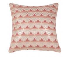 Fodera di cuscino grafica rosa in cotone 40x40
