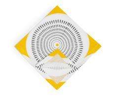 Tovagliolo giallo/grigio in cotone 42 x 42 cm HELICONIA