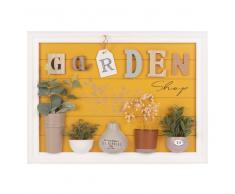 Quadro decorativo giardino con piante artificiali, 40x55 cm
