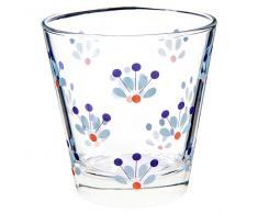 Bicchiere di vetro a fiori CAPRI