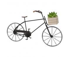 Statuetta bicicletta in metallo, h 12 cm