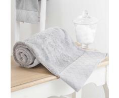 Asciugamano grigio in cotone 100 x 150 cm HÔTEL