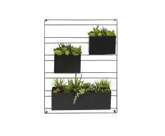 Decorazione da parete 3 piante artificiali in vaso