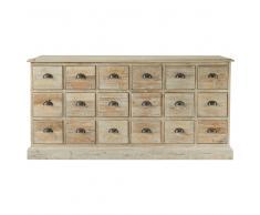 Cassettiera in legno riciclato L 170 cm Lausanne