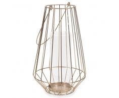 Lanterna in metallo H 35 cm COPPER COVENT