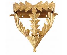 Seggiolino in metallo dorato effetto anticato H.38 cm HORACE