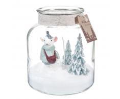 Candela con vasetto decorativo in vetro
