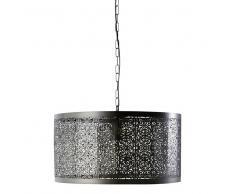 Lampadario nero in metallo cesellato D 50 cm GAIA