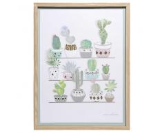 Quadro in alluminio dorato 30x40 cm CACTUS COLLECTION