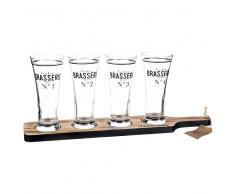 Vassoio 4 bicchieri da birra in vetro