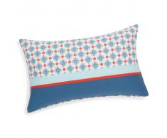 Federa per cuscino in cotone azzurra/rossa 30 x 50 cm CAPOSCURO