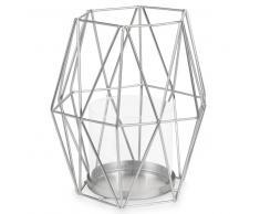 Lanterna argento in metallo H 17 cm PALERMO