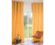 Tenda gialla in velluto con occhielli 140 x 300 cm VINTAGE VELVET CURCUMA