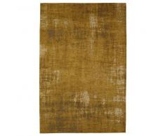 Tappeto giallo senape in cotone 155 x 230 cm FEEL