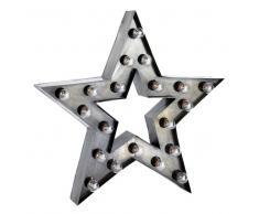 Applique a stella stile industriale in metallo H 80 cm ALABAMA