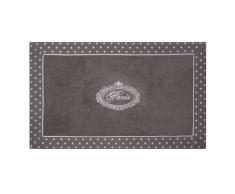 Tappeto da bagno grigio in cotone 50 x 80 cm PARIS