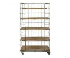 Scaffale stile industriale a rotelle in metallo L 93 cm Troly