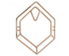 Appendiabiti esagonali in metallo dorato
