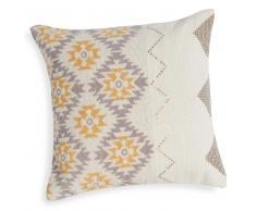 Fodera di cuscino quadrata in cotone con motivi colorati e lustrini 40x40 cm GOPSY