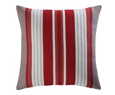 Cuscino da giardino in tessuto a righe rosse e bianche 45x45 cm ESPELETTE